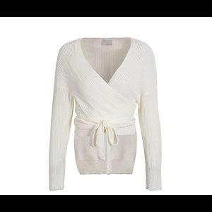 Glamaker Wrap Sweater M(6-8) off white
